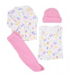 Conjunto para bebé prematura - Rosa estampado