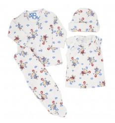 Conjunto para bebé prematura - Crema ositos