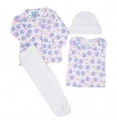 Conjunto para bebé prematura - Blanco Erizos