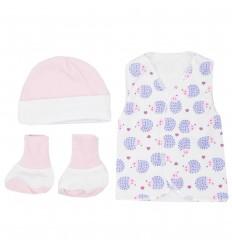 Set de ropa UCI para bebé prematura- Erizos