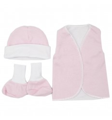 Set de ropa UCI para bebé prematura - Rosa