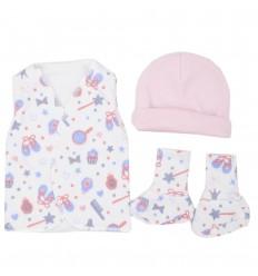 Set de ropa UCI para bebé prematura-accesorios