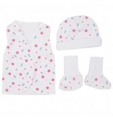 Set de ropa UCI para bebé prematura-Flores