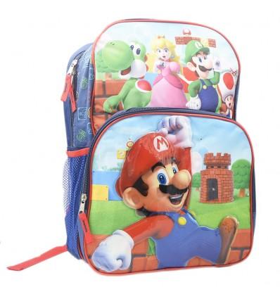 Maleta grande para niño - Mario Bros