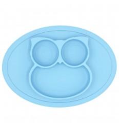 Plato en silicona para bebé con diseño de buho