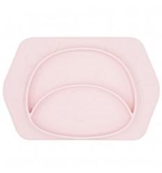 Plato en silicona para bebé con diseño de Reno Rosa