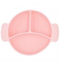 Plato en silicona para bebé 3 compartimientos
