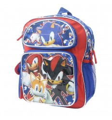 Maleta pequeña para niño Sonic Azul
