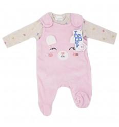 Mameluco con Body para bebé prematura - Rosa