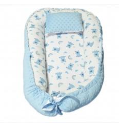 Nido para bebe - Azul animalito arcoiris