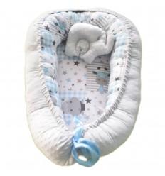 Nido para bebe - Gris animales- elefante
