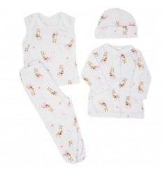 Conjunto para bebé prematura - Jirafa estrellas