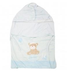 Sleeping para bebé forrado - Azul oso