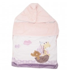 Sleeping para bebé forrado - Rosa con morado