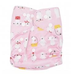 Pañal ecológico para bebé- Osos rosa