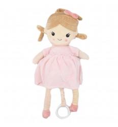 Sonajero de Halar musical muñeca rosada