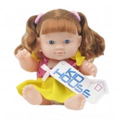Muñeca bebé con cabello largo - amarillo rosa