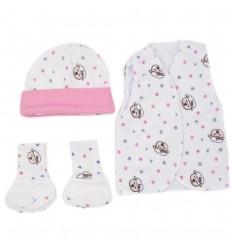 Set de ropa UCI para bebé prematura- ovejas