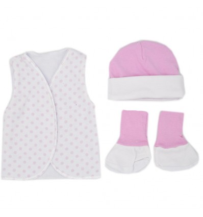 Set de ropa UCI para bebé prematura- Bolas
