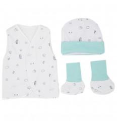Set de ropa UCI para bebé prematuro - Verde
