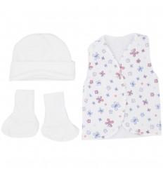 Set de ropa UCI para bebé prematura - Mariposas