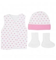 Set de ropa UCI para bebé prematura - corazones
