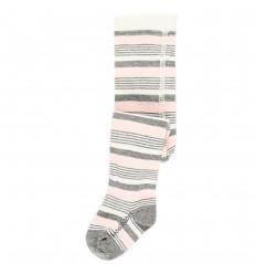 Media pantalon para bebé- rosa con gris