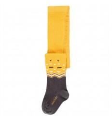 Media pantalon para bebé- Gris con amarillo