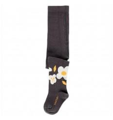 Media pantalon para bebé- Gris flores