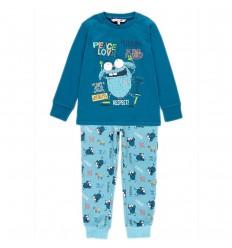 Pijama dos piezas para niño- Monstruo Azul