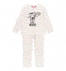Pijama dos piezas para niña - Puntos