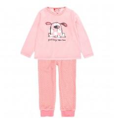 Pijama dos piezas terciopelo para niña- Rosa