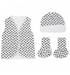 Set de ropa UCI para bebé prematura- Corazones