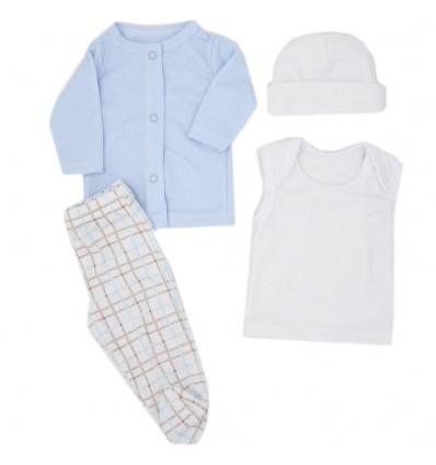 Conjunto para bebé prematuro -Azul