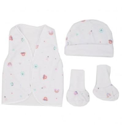 Set de ropa UCI para bebé prematura- dibujos