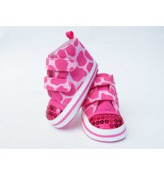 Zapato rosa con lentejuelas