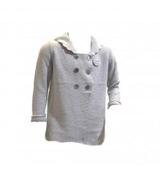 Saco gris tejido
