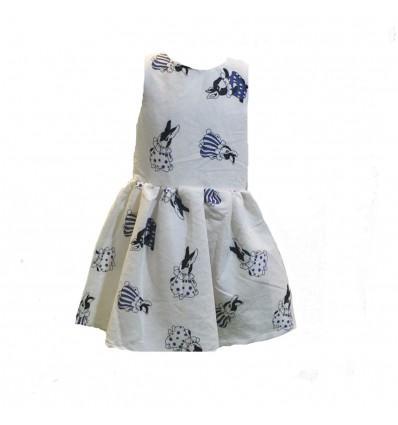 Vestido combinado niña
