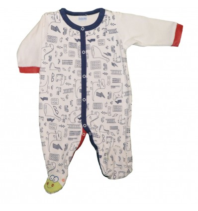 Pijama Enteriza para bebé - dinosaurios
