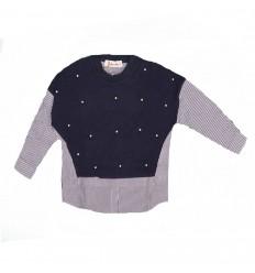Saco combinado blusa para niña