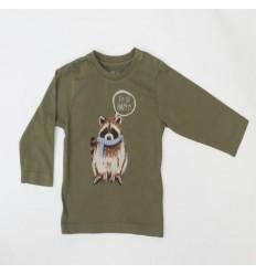 Camiseta manga larga mapache