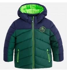 chaqueta para niño - acolchada azul con verde