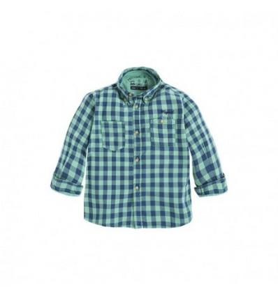 camisa para niño - cuadros verde