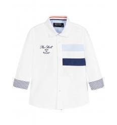 camisa para niño - polo blanca