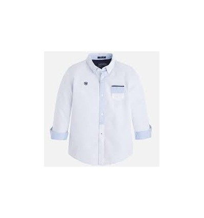 camisa para niño -elegante blanca