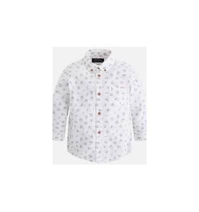 camisa para niño - blanca estampada