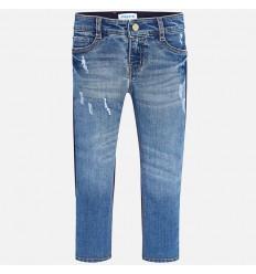 pantalon para niña - combinado azul