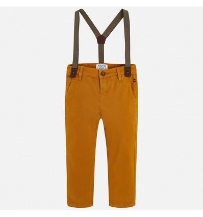 pantalon para niño - mostaza tirantas