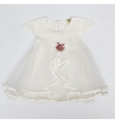 Vestido blanco moño