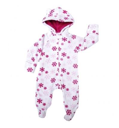 Pijama para bebé figuras copos de nieve
